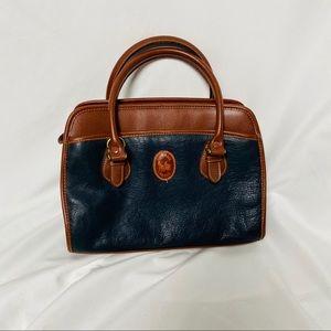 Vintage leather carriage house handbag